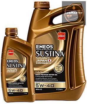Eneos Sustina 5w40 1L/4L (API SN, ACEA C3, A3/B4)